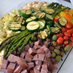 Meat & vegetable tray